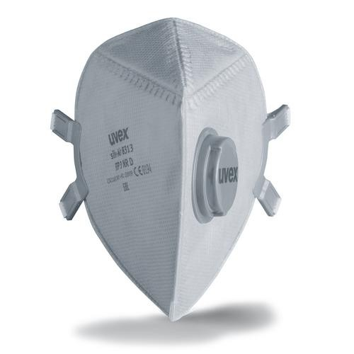 uvex Atemschutzmaske silv-Air p 8313 FFP3 NR D, Faltmaske mit Ventil