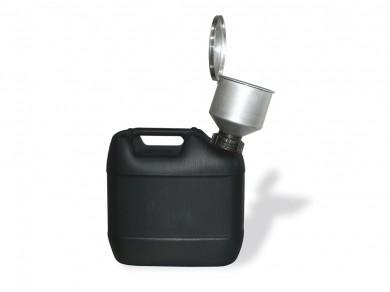 Einfülltrichter aus Edelstahl mit Überwurfmutter