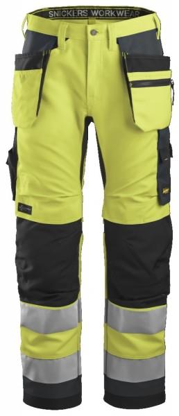 Snickers Workwear 6230 AllroundWork, High-Vis Arbeitshose+ mit Holstertaschen, EN 20471 Klasse 2