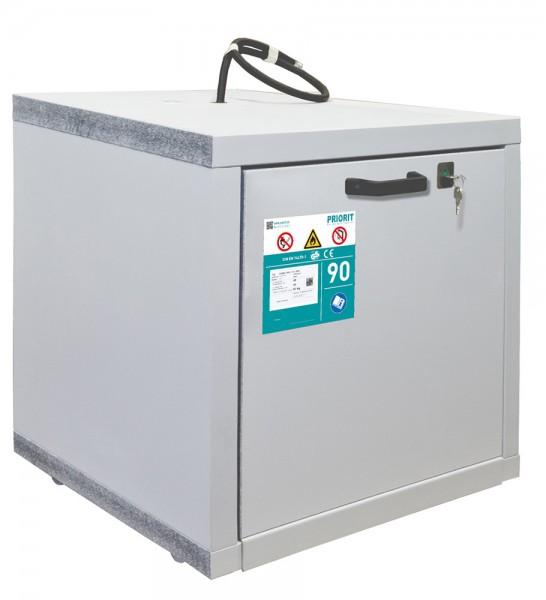 Priorit Untertisch-Sicherheitsschrank Priocab Typ90, EN90U:063-060-1AFS mit einem Vollauszug