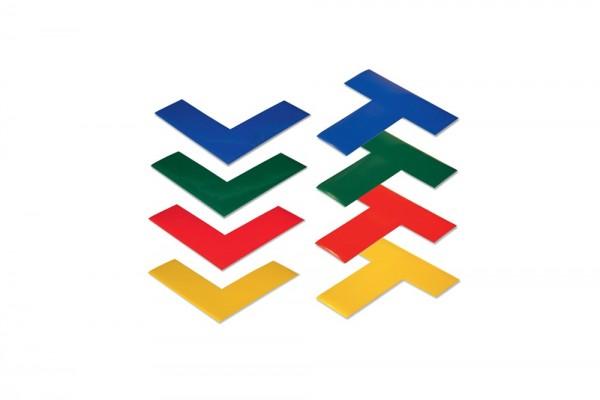 "Boplan Line Plan Bodenmarkierungs-Piktogramme ""L"" oder ""T"" gelb"