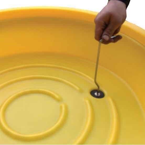 Stopfen KFW-50S aus Polyethylen (PE) für Waschwanne KFW-50
