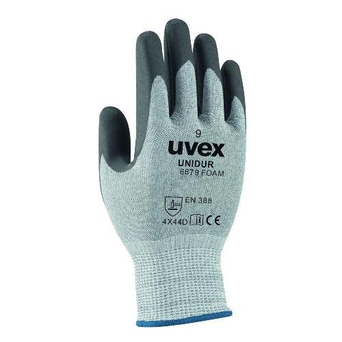 uvex Schnittschutzhandschuhe unidur 6679 foam mit NBR Schaumbeschichtung, HPPE Stahlfaser