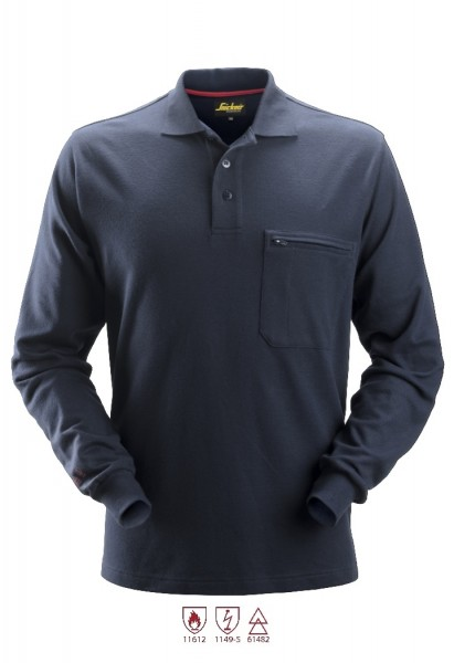 Snickers Workwear 2660 ProtecWork Langarm Polo-Shirt, navy, antistatisch