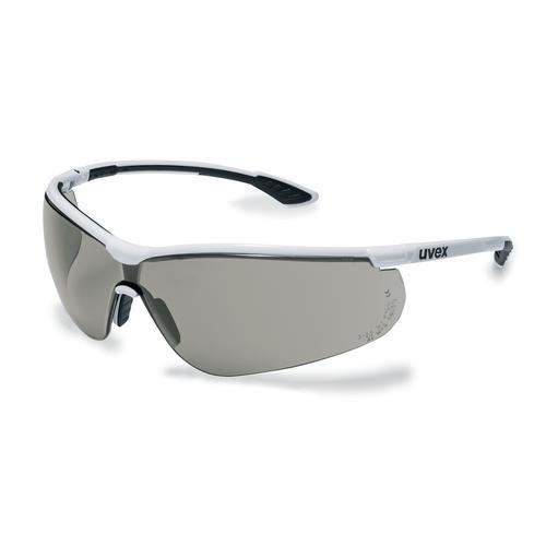uvex Schutzbrille 9193280 sportstyle, weiß/schwarz, PC grau, beschlagfrei, kratzfest