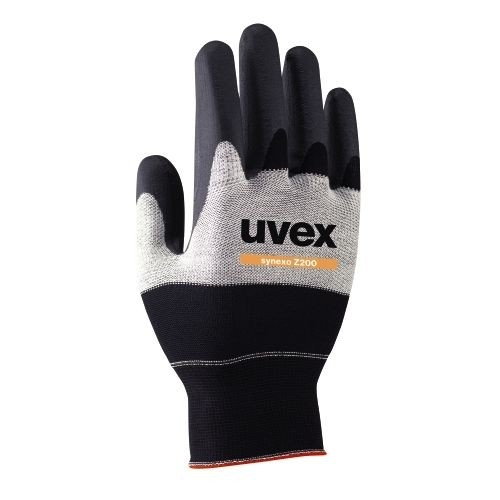uvex Schutzhandschuhe synexo Z200 schwarz/weiß/schwarz mit speziellen Schutzzonen