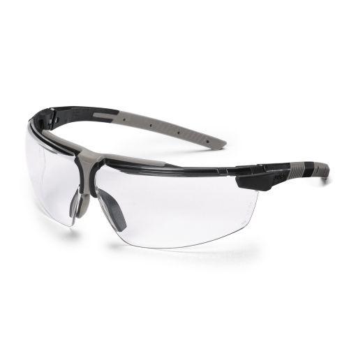 uvex Schutzbrille 9190175 i-3 schwarz/hellgrau, PC farblos, metallfrei, beidseitig beschlagfrei