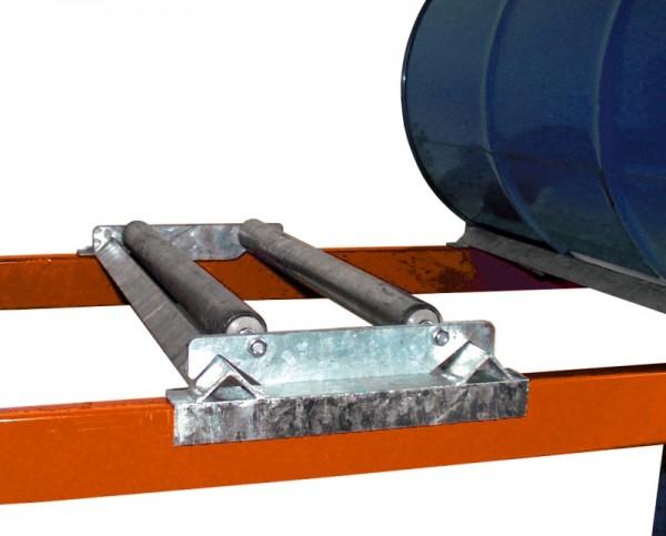 Bauer Steckbare Rollenauflage Typ S 3013 aus Stahl, verzinkt, für 1 x 200-L-Fass