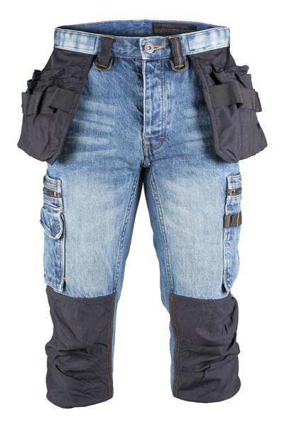 Dunderdon Berufsbekleidung Original Line Piratenhose P12K mit Holstertaschen, Stonewashed