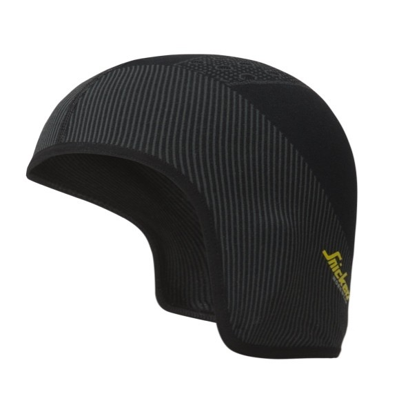 Snickers Workwear 9053 FlexiWork Nahtlose Helm-Mütze, schwarz/grau