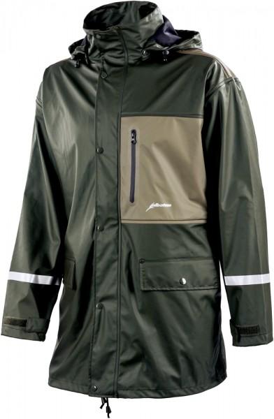 Albatros BLIZZARD JKT PU-Stretch-Regenjacke oliv/khaki mit abnehmbarer Kapuze