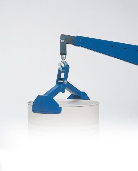 Fasshebezange vertikal, Stahl pulverbeschichtet, 550 x 250 x 210 mm