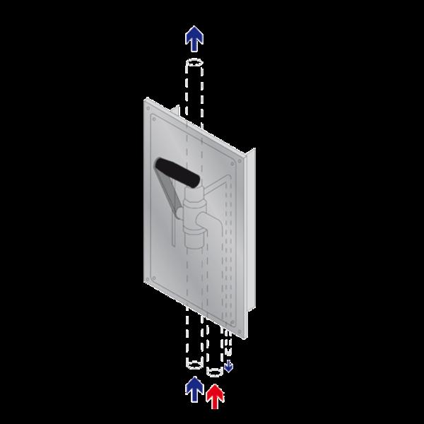 B-Safety PremiumLine Notduschenventil BR 029 995 im Edelstahlgehäuse, Thermostatmischventil