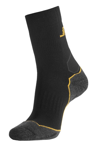 Snickers Workwear 9202 Socken WollMix, halbhoch, schwarz/grau