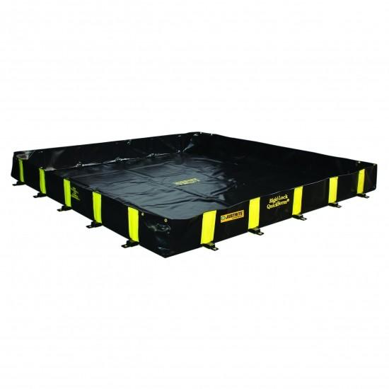 Justrite befahrbare Faltwanne 28522, schwarz, 4069 L, 3,7 x 3,7 m, für Fässer, IBC, Tanks