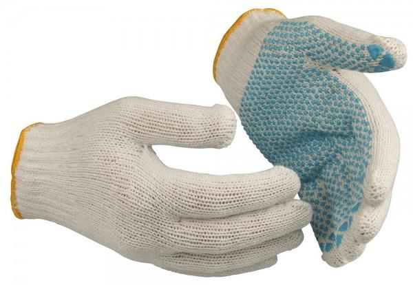 Schutzhandschuhe 710 Guide aus Baumwoll-Polyester-Garn mit PVC-Noppen, nahtlos