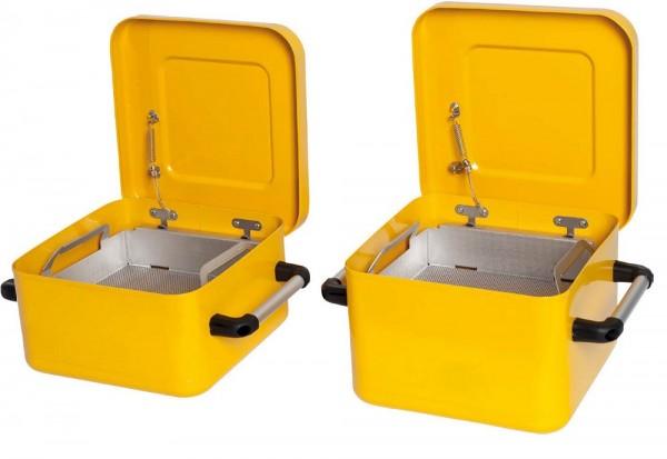 Tauchbehälter 10 Liter zur Teilereinigung, Stahlblech