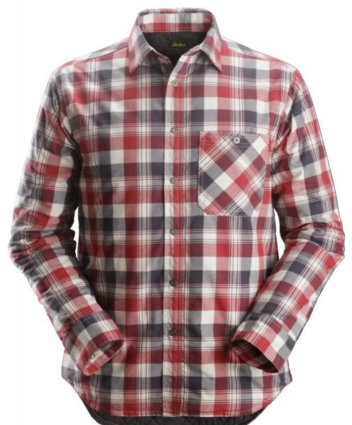 Snickers Workwear 8501 RuffWork gefüttertes Flanell Langarm-Karoarbeitshemd