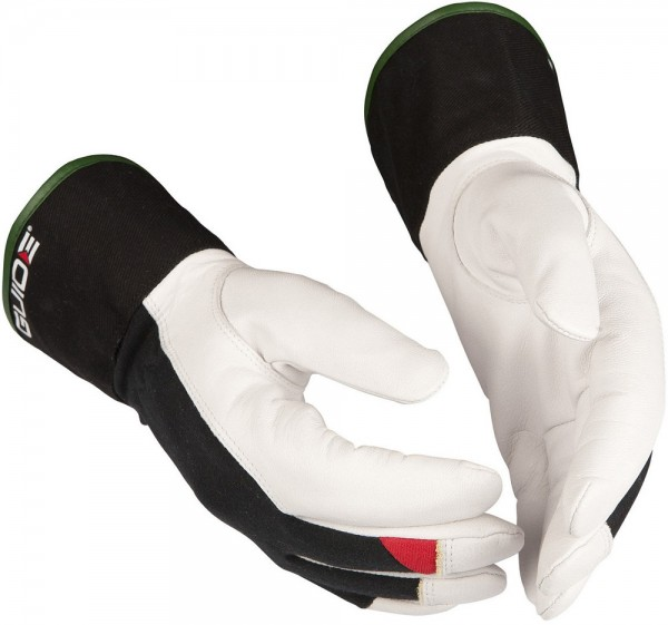 Schnittschutz-Handschuhe 344 Guide aus flexiblem Leder, Stulpe aus Baumwolle