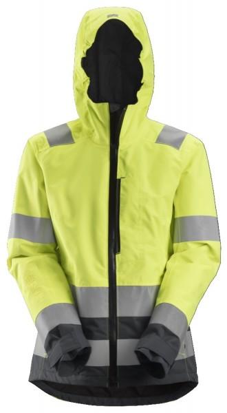 Snickers Workwear 1347 Damen High-Vis wasserdichte Jacke mit Kapuze, EN 20471 Klasse 2/3