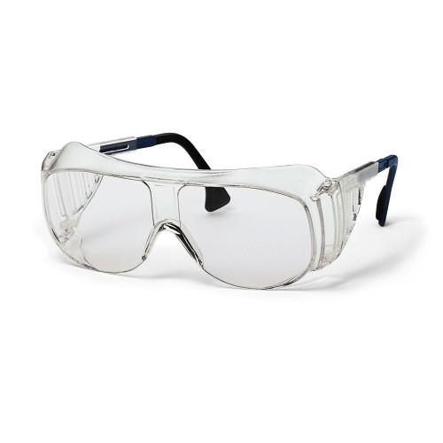 uvex Überbrille 9161305 blau/schwarz, PC farblos, Antistatisch, Kratzfest, Panoramascheibe
