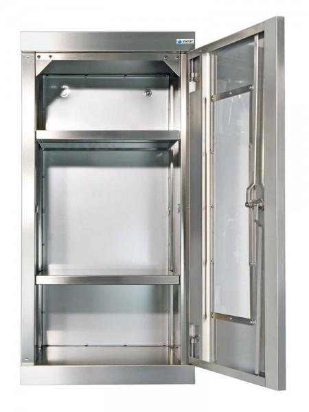 STM-CabinOX Edelstahl-Hänge-Sichtfensterschrank, 900 x 450 x 400 mm