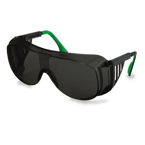 uvex Schweißer-Überbrille 9161145 schwarz / grün, PC grau, Schutzstufe 5, verstellbare Bügel