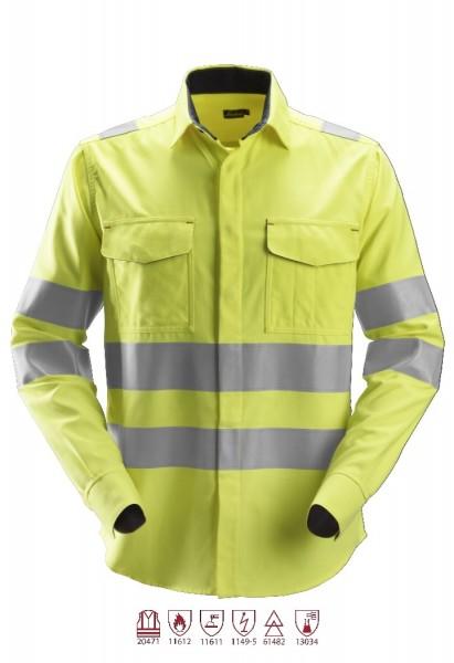 Snickers Workwear 8565 ProtecWork Langarm-Schweißerhemd, antistatisch, High-Vis Klasse 3