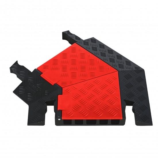 Checkers Guard Dog General Purpose 5-Kanal-Kabelschutz Kurve Links, 62x50x5cm