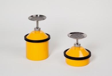 Sparanfeuchter 2,5 Liter mit Schutzleiste, Stahl, gelb lackiert