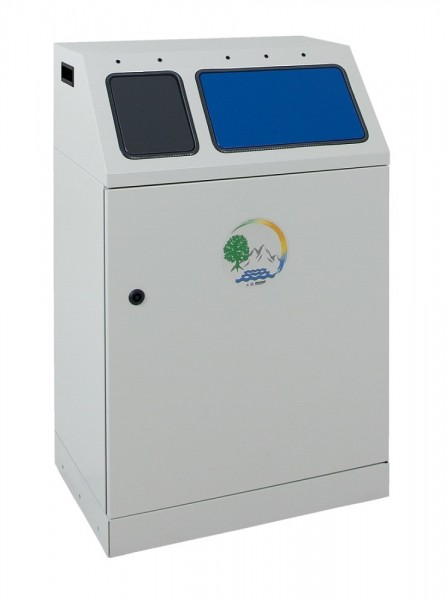 Stumpf Metall Abfalltrennung Duplex, kompakter 2-fach Sammler, verzinkter Innenbehälter