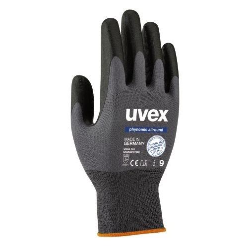 uvex Schutzhandschuhe phynomic allround grau/schwarz für mechanische Tätigkeiten