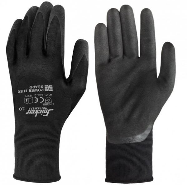 Snickers Workwear 9327 Power Flex Guard Handschuhe, schwarz