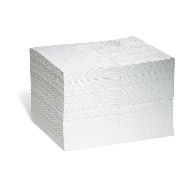 Weiße Oil-Only Saugmatten, Medium, 38 x 51 cm, 125 Matten im Beutel