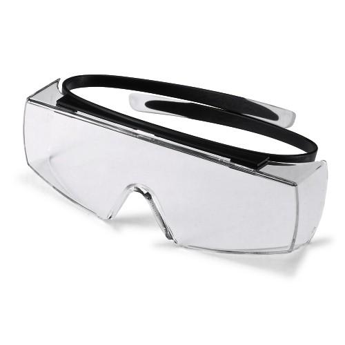 uvex Überbrille 9169080 super OTG, schwarz, PC farblos, Kratzfest, Chemikalienbeständig