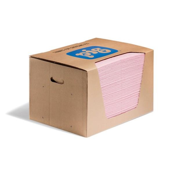 HazMat Saugmatten, Heavy, rosa, 33 x 25 cm, 100 Matten im Ausgabekarton