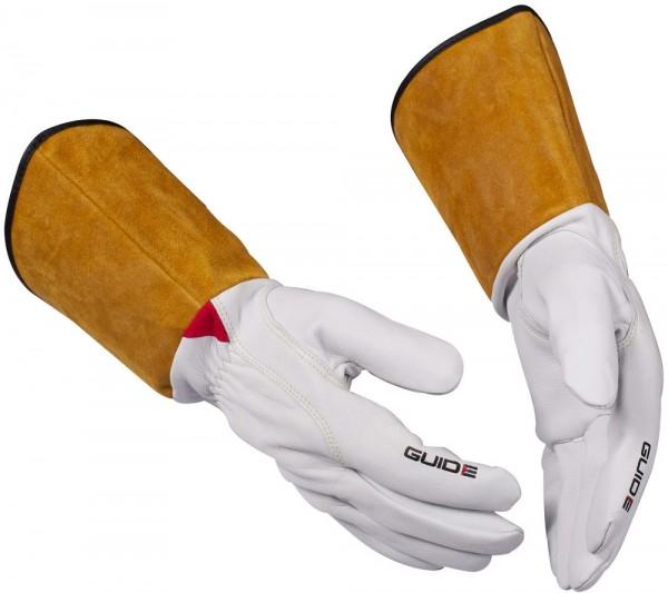 Hitzeschutz-Handschuhe 230 Guide aus Leder, Stulpe, Gummizug