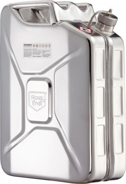 Rötzmeier Sicherheitskanister 20 Liter, Typ 20KK mit Schraubkappe, Edelstahl