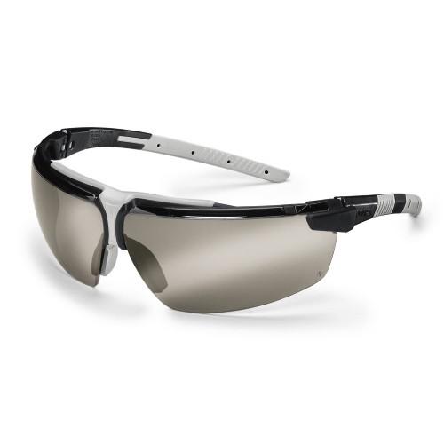 uvex Schutzbrille 9190885 i-3 schwarz/hellgrau, PC verspiegelt silber