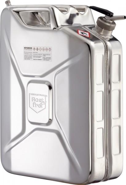 Rötzmeier Sicherheitskanister 20 Liter, Typ 20KDL mit Feindosierer und Belüftung, Edelstahl