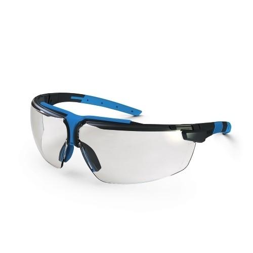 uvex Schutzbrille i-3 9190275, anthrazit/blau, PC farblos, metallfrei