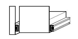 Auszugswanne Entsorgung, links, 4,5 l, 329 x 602 x 150 mm, Edelstahl