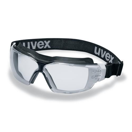 uvex Vollsichtbrille 9309275 pheos cx2 sonic mit Kopfband, PC farblos, kratzfest, beschlagfrei