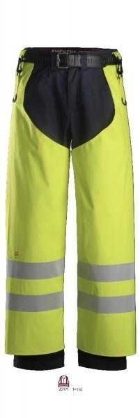 Snickers Workwear 8269 ProtecWork Regenhose PU, Flammhemmend, Warnschutz Klasse 2