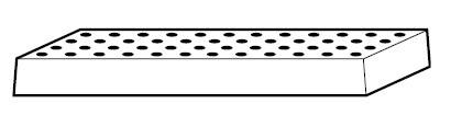 Lochblecheinsatz für STAWAR, Stahlblech, für Sicherheitsschränke V90.196.VDAC