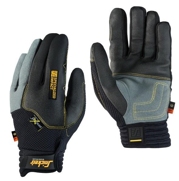 Snickers Workwear 9595 Specialized Impact Handschuh Links, schwarz/steingrau