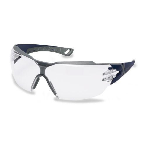 uvex Schutzbrille 9198257 pheos cx2, blau/grau, PC farblos, beschlagfrei, kratzfest