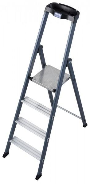 Krause MONTO Stufen-Stehleiter SePro S eloxiert, einseitig begehbar