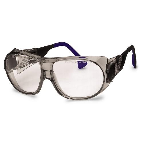 uvex Schutzbrille 9180015 futura, braun, PC farblos, kratzfest, chemikalienbeständig