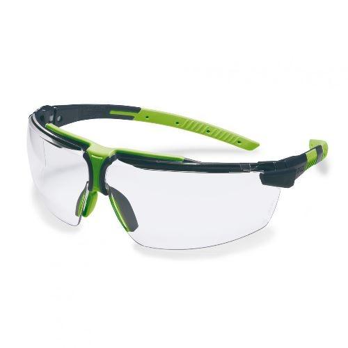 uvex Schutzbrille 9190075 i-3 s, anthrazit/lime, PC farblos, beschlagfrei, kratzfest